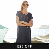 Buy Scallop Lace Insert Dress - Midnight from The White Company
