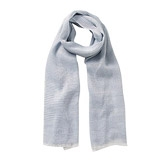 Buy Striped Woven Scarf - Blue from The White Company