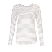 Buy Linen Long Sleeve T-Shirt - Striped from The White Company