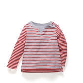Buy Baby Contrast Stripe T-Shirt from The White Company