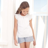 Buy Girls' Frill Sleeve Blouse from The White Company