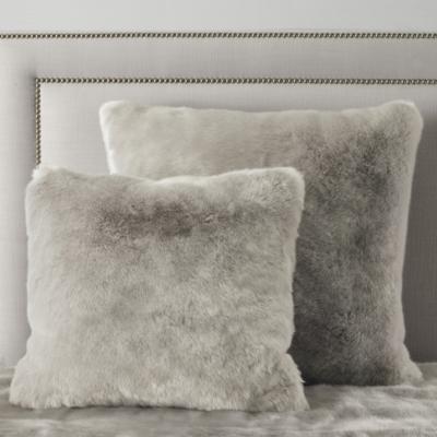 Supreme Faux Fur Throw & Cushion Covers - Silver