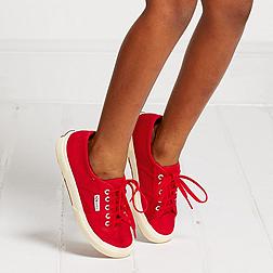 Children's Superga Plimsolls - Red