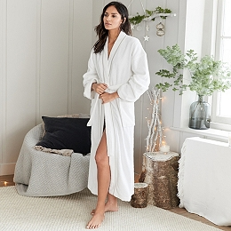 Cotton Classic Stand Collar Robe