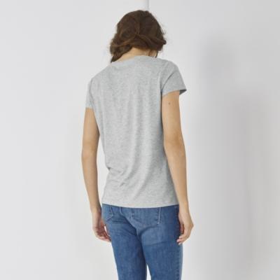 Silver Foil Print T-shirt