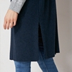 Sleeveless Side Split Long Cardigan