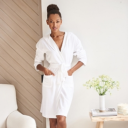 Lightweight Velour Short Robe