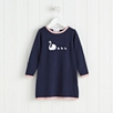 Swan Motif Knitted Dress (1-6yrs)