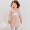 Swan Motif Knitted Dress