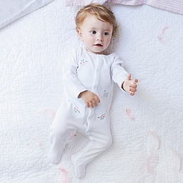 Swan Lake Embroidered Sleepsuit