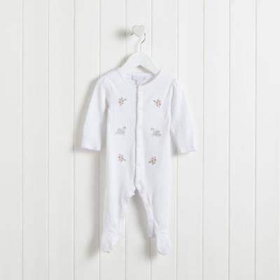 Swan Lake Embroidered Sleepsuit