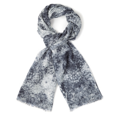 Stormy Lace Print Scarf