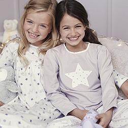 Spotty Star Pyjamas - White