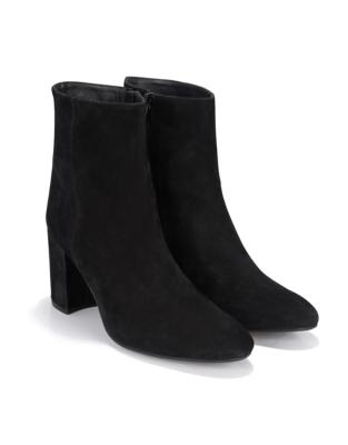 Side Zip Heeled Boots