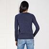Side Zip Sweater - FrenchNavyMarl