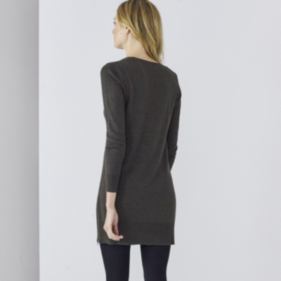 Side Zip Knitted Tunic - Clay