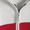Stripe Zip Up Hooded Cardigan
