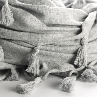 Tassel Scarf - Silver Grey Marl