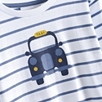 Taxi Motif T-Shirt - Moonlight Blue