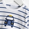 Baby Boys' Taxi Motif T-Shirt - Moonlight Blue