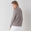Textured Front Curved Hem Sweater