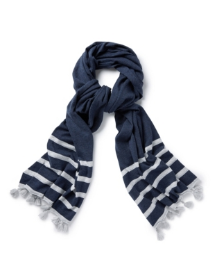 Cotton Tassel Stripe Scarf