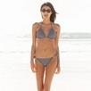 Tiny Dot Reversible Bikini Top - Eclipse