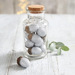 Mini Acorn Tree Decorations - Set of 10