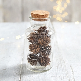 Mini Pinecone Tree Decorations - Set of 10