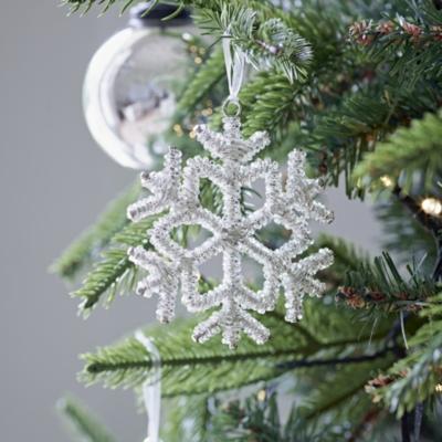 Silver Beaded Snowflake