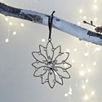 Small Antiqued Jewelled Snowflake