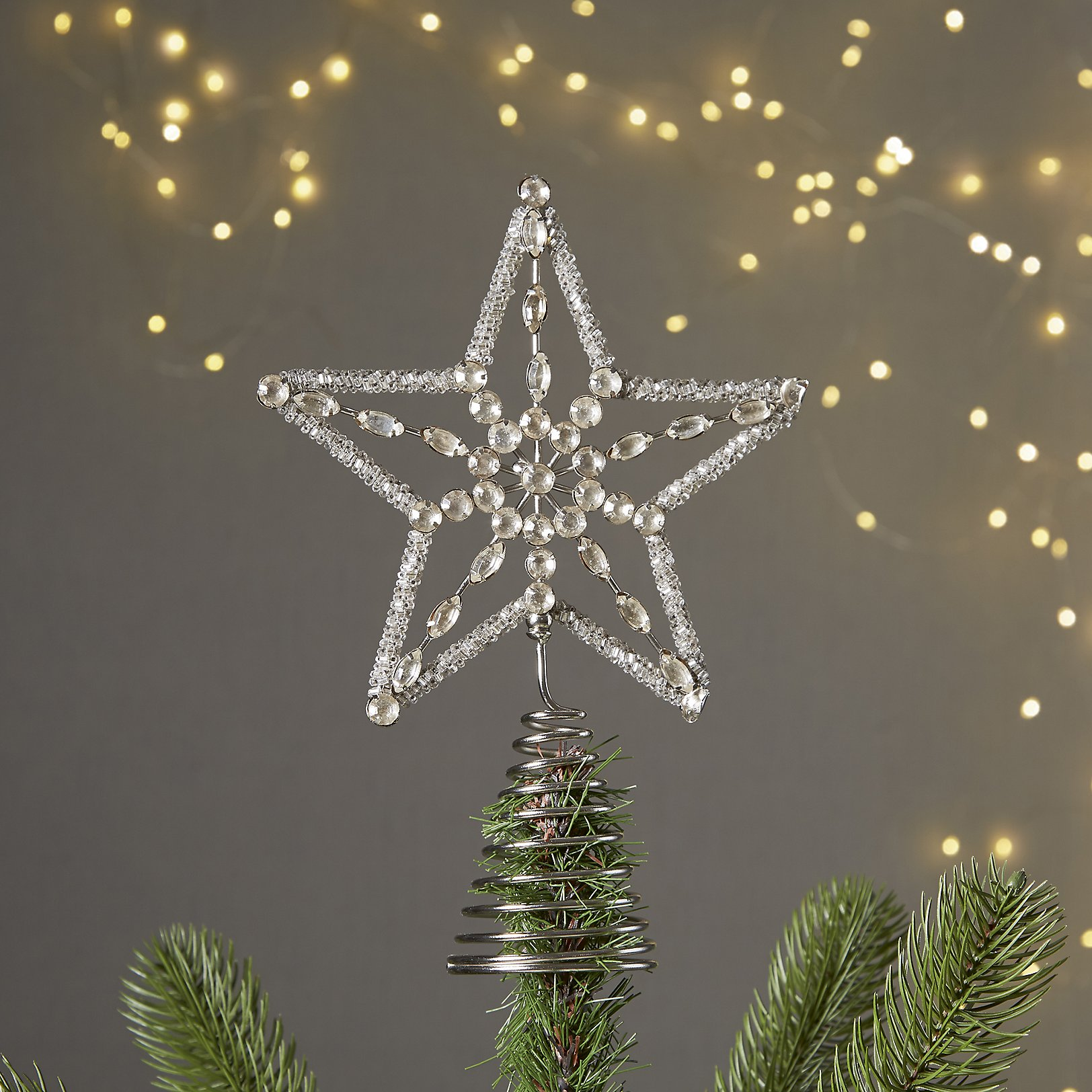 vintage jewel star tree topper home the white company us - Christmas Star Tree Topper