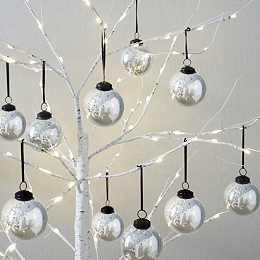 Large Glass Baubles – Set of 12