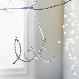 Beaded Love Tree Decoration