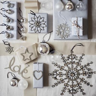 Large Antique Jewelled Snowflake Decoration