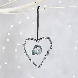 Sequin Heart Christmas Decoration