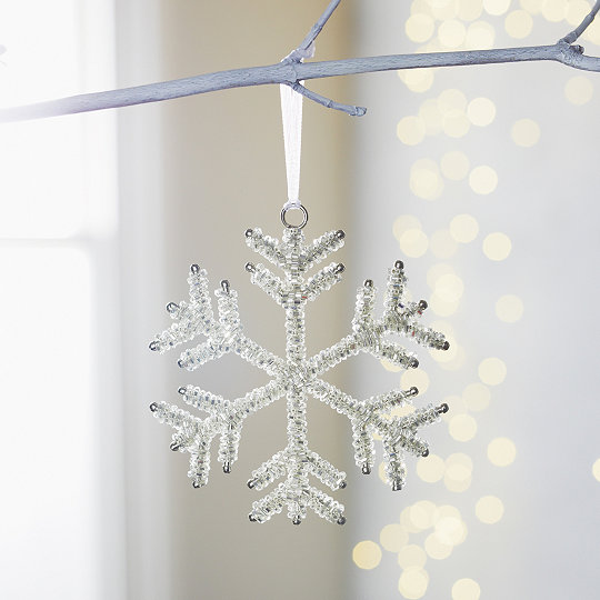 beaded snowflake christmas decoration
