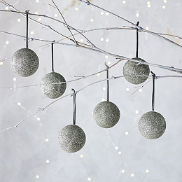 Glitter Baubles – Set of 6