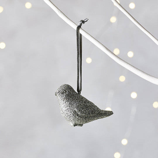 glitter bird christmas decoration - Bird Christmas Decorations