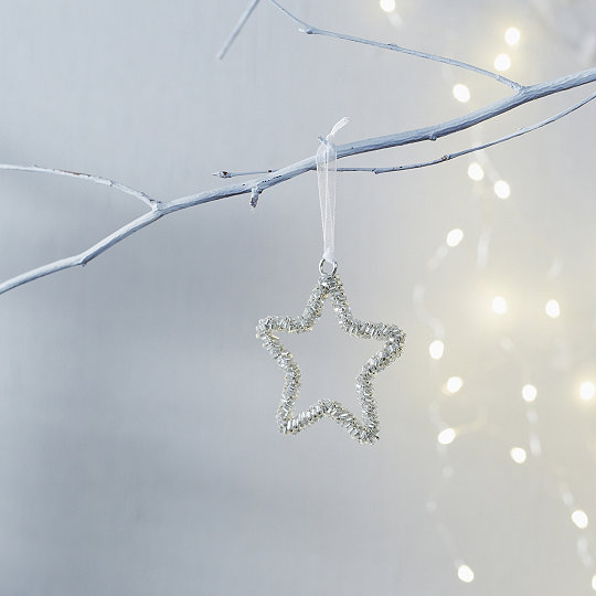 beaded star christmas decoration