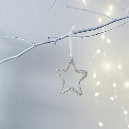 Beaded Star Tree Decoration