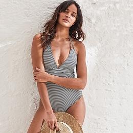 Textured Stripe Swimsuit