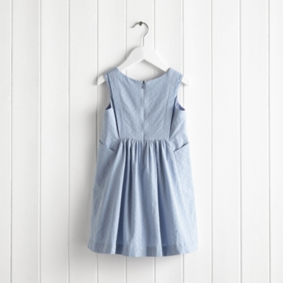 Textured Chambray Skater Dress