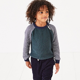 Textured Side Zip Jumper (1-6yrs)