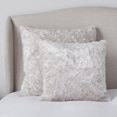 Textured Faux Fur Cushion Cover - Putty