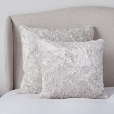 Textured Faux Fur Throw & Cushion Covers - Putty
