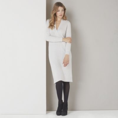 Twist Front Knitted Dress