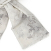 Tonal Floral Wool Scarf