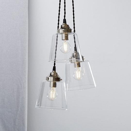 Tapered glass cluster ceiling light lighting the white company uk tapered glass cluster ceiling light aloadofball Gallery