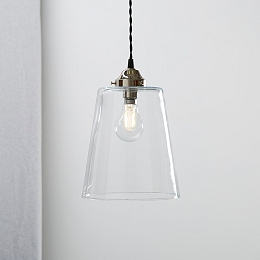 Tapered Glass Large Pendant Light
